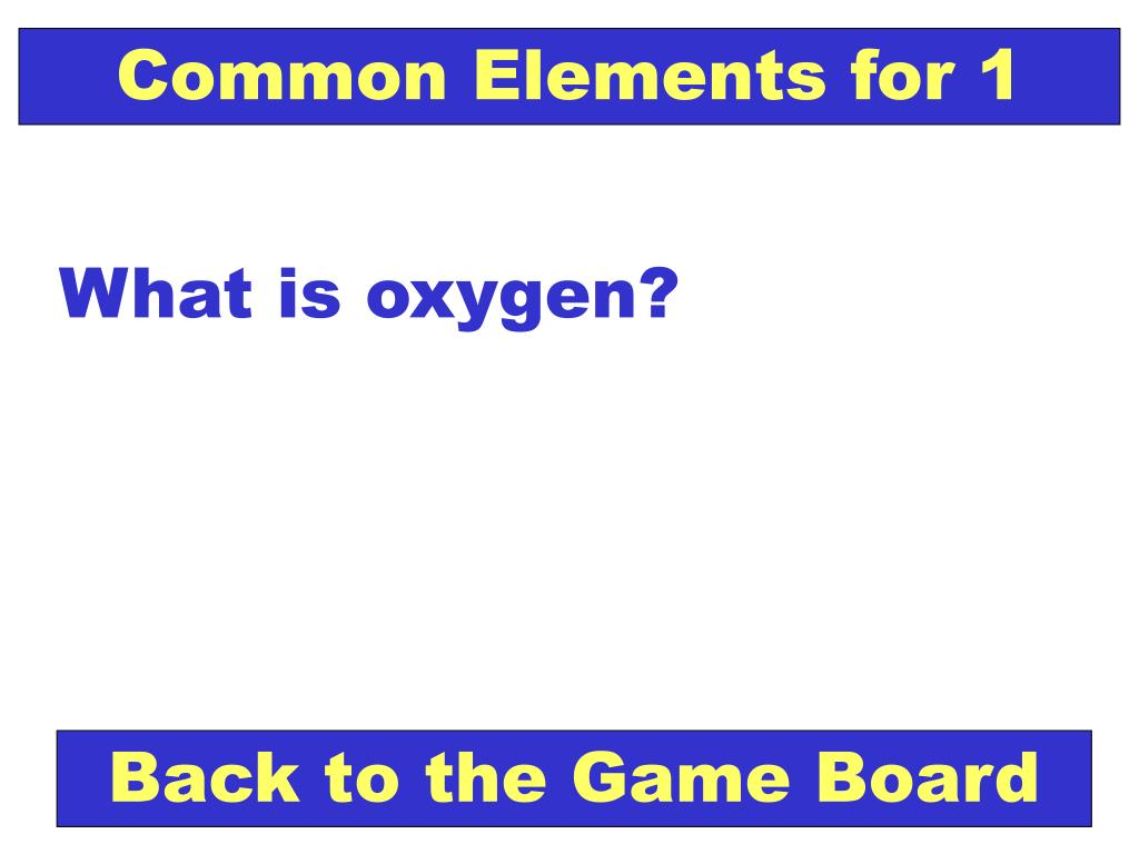 Common Elements for 1