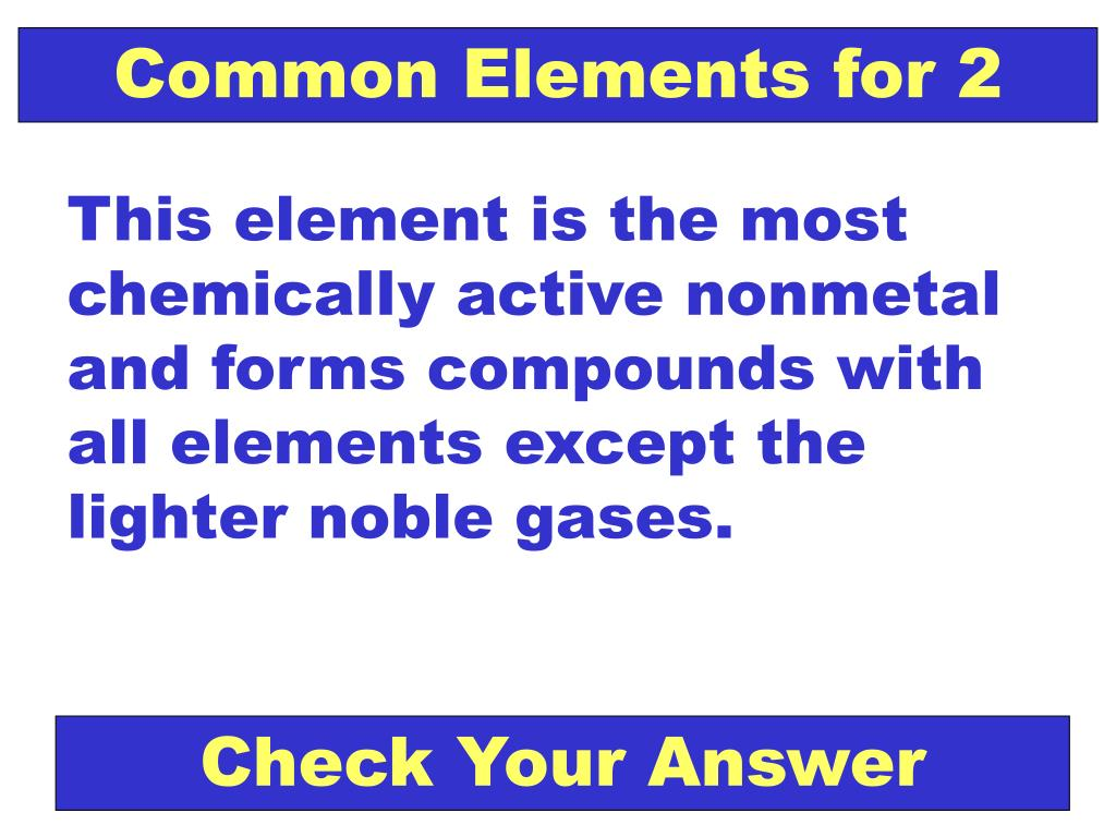 Common Elements for 2