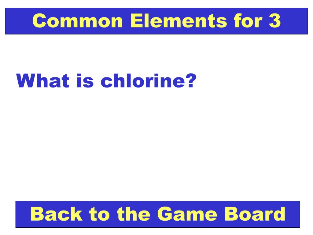 Common Elements for 3