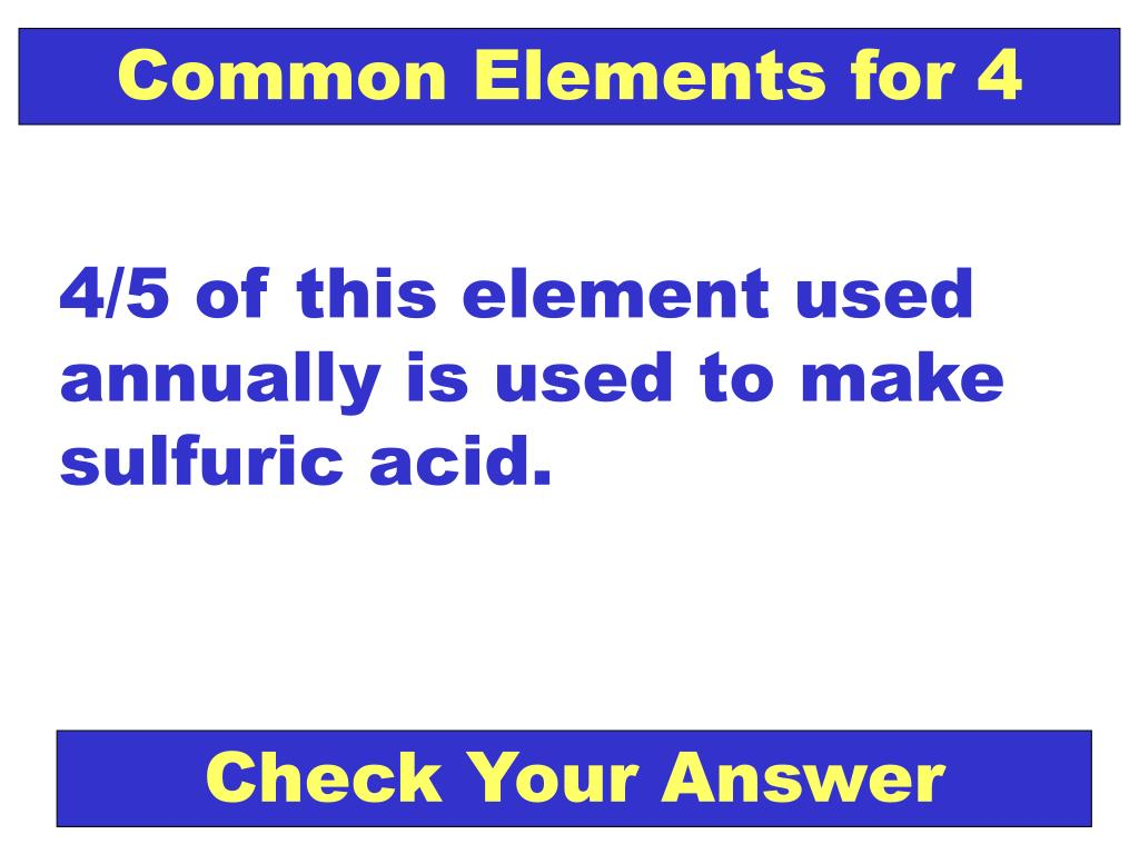 Common Elements for 4