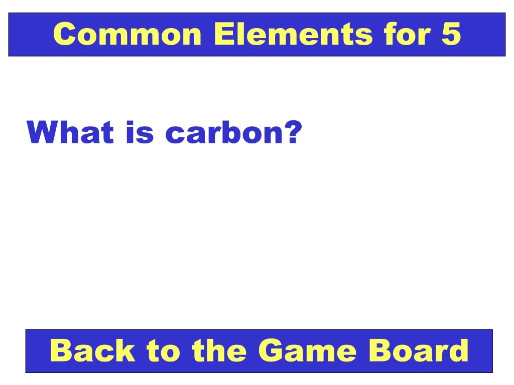 Common Elements for 5