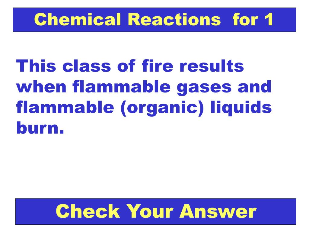 Chemical Reactions  for 1