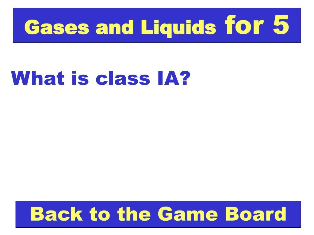 Gases and Liquids