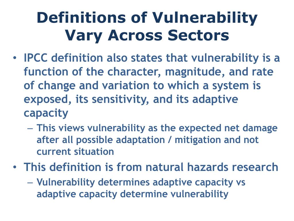 Definitions of Vulnerability Vary Across Sectors