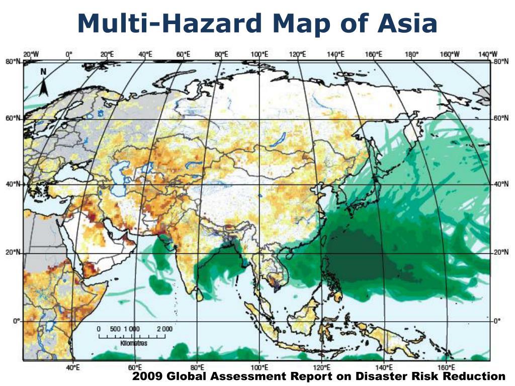 Multi-Hazard Map of Asia