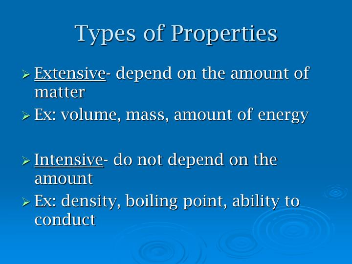 Types of Properties