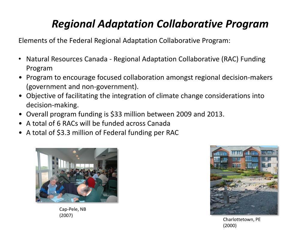 Regional Adaptation Collaborative Program