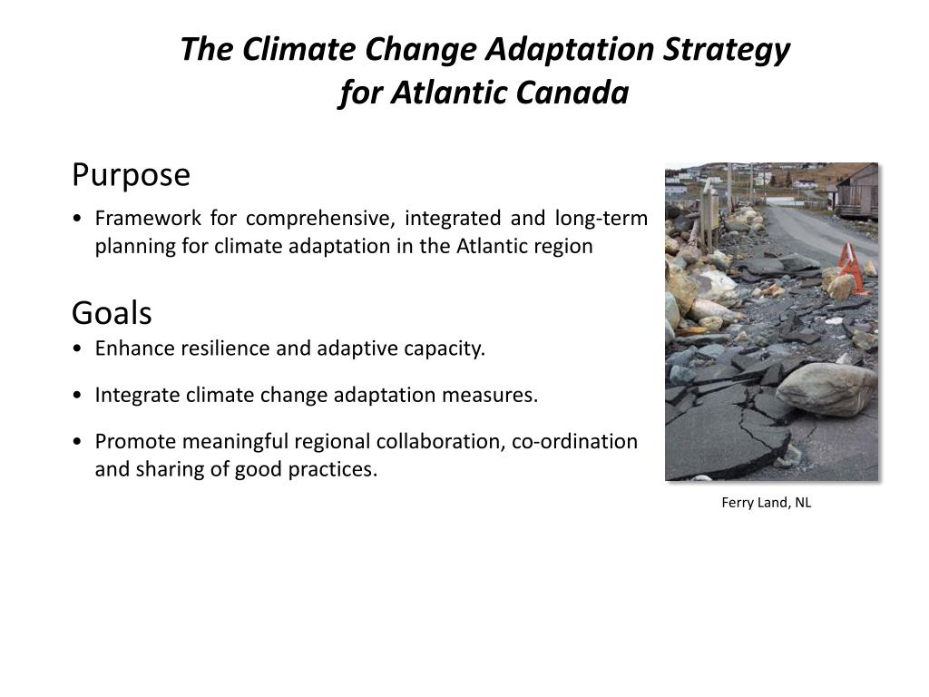 The Climate Change Adaptation Strategy