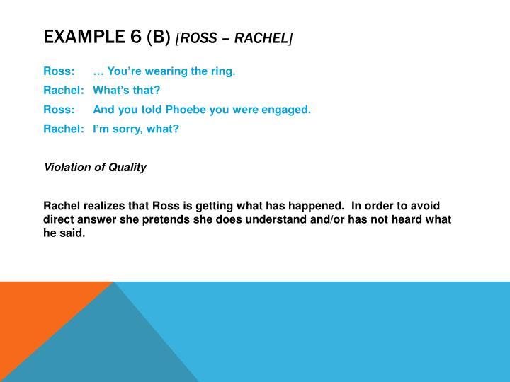 Example 6 (b)