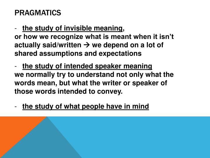 pragmatics