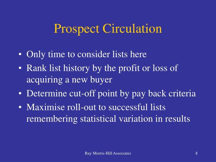 Prospect Circulation