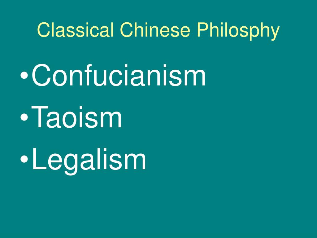 Classical Chinese Philosphy