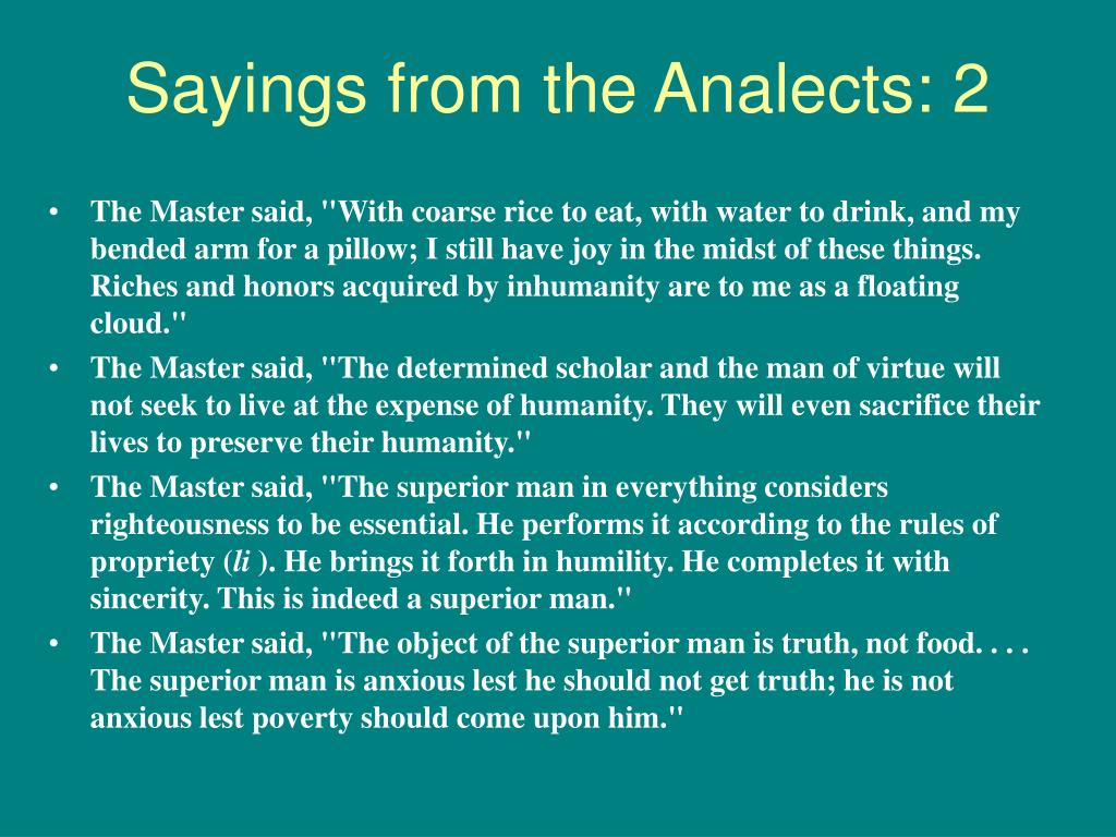 Sayings from the Analects: 2