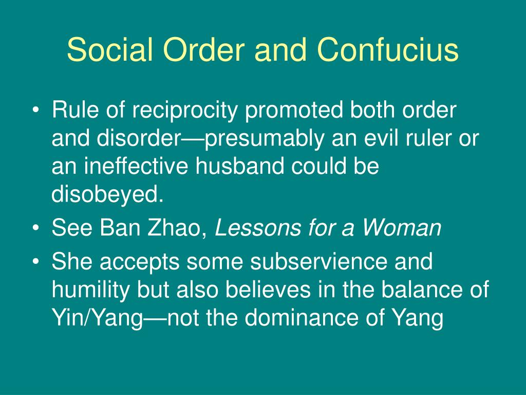 Social Order and Confucius