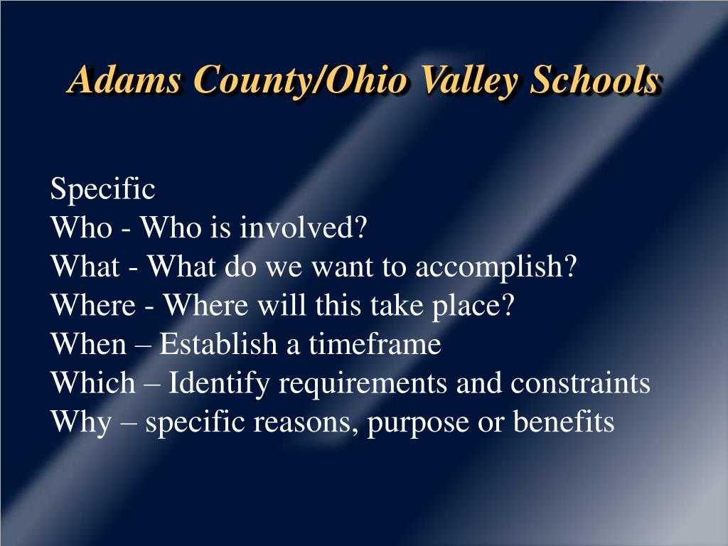 Adams County/Ohio Valley Schools