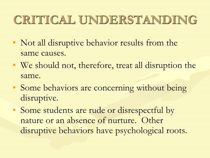 CRITICAL UNDERSTANDING