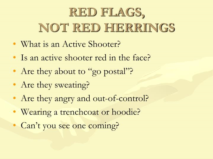 RED FLAGS,