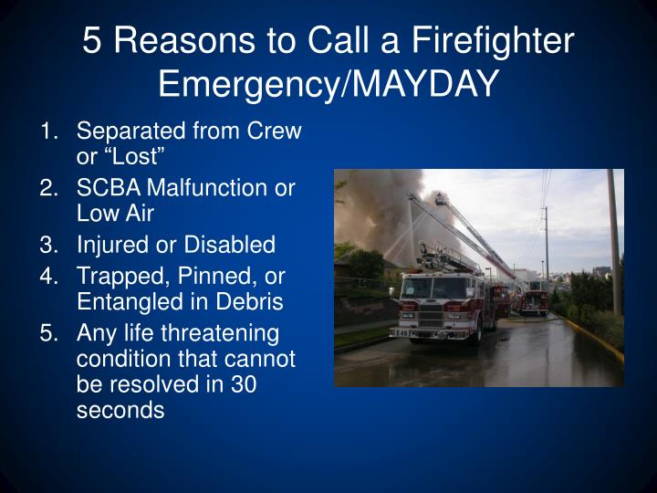 Ppt Fire Ground Survival Emergency Scba Operations