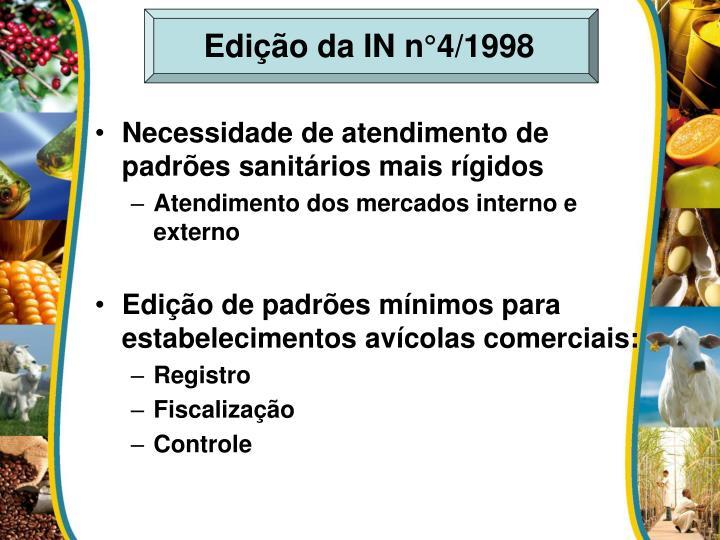 Edição da IN n°4/1998