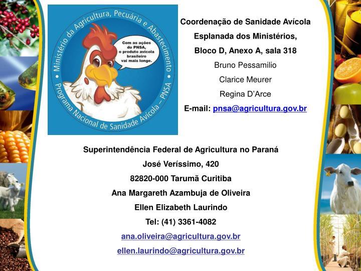 Coordenação de Sanidade Avícola