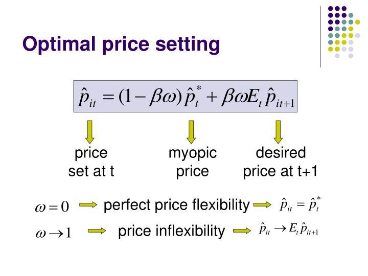 Optimal price setting