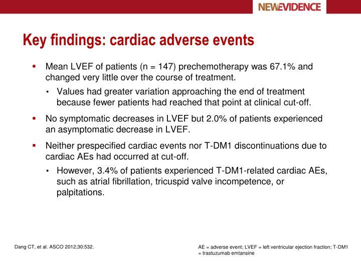 Key findings: cardiac adverse events