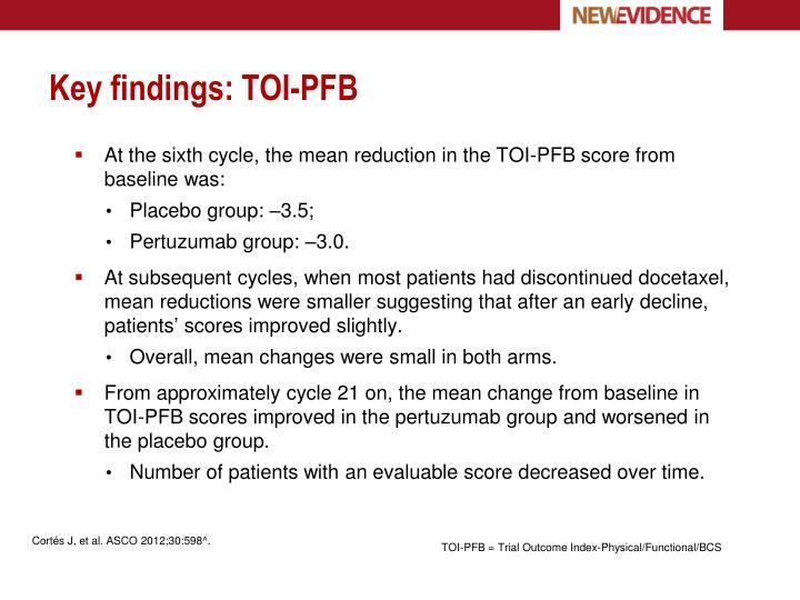 Key findings: TOI-PFB