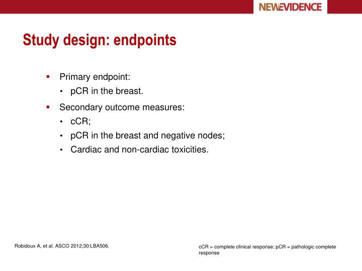 Study design: endpoints
