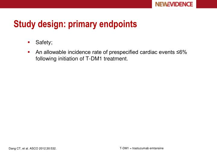 Study design: primary endpoints