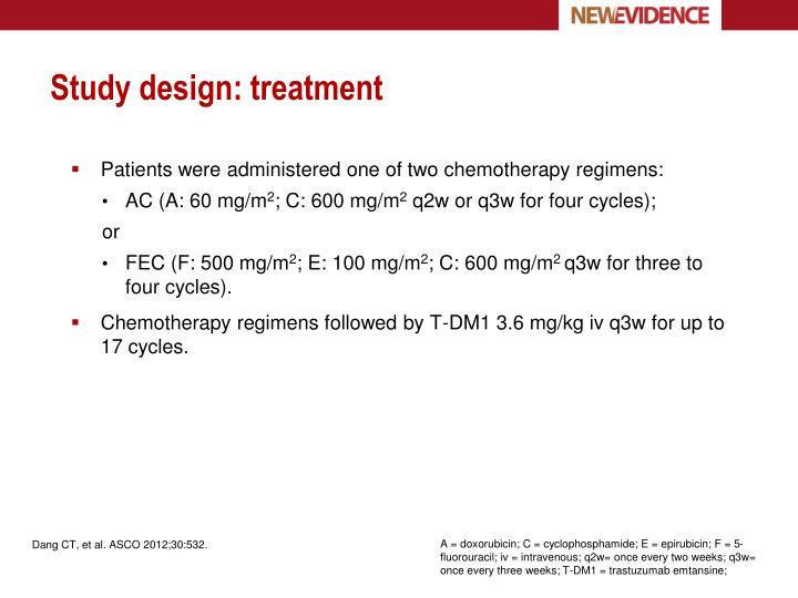 Study design: treatment