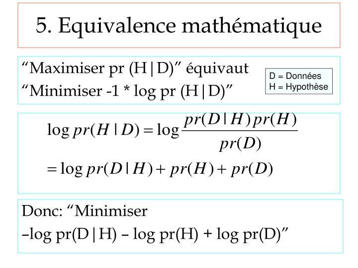 5. Equivalence mathématique