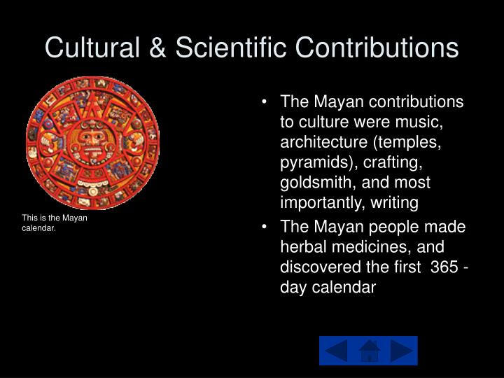 Cultural & Scientific Contributions