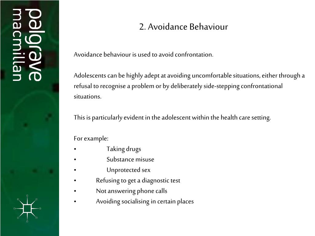 2. Avoidance Behaviour