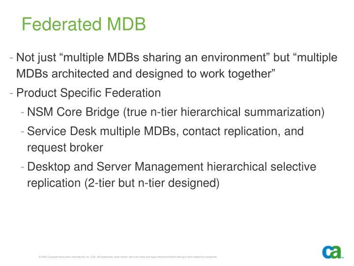 Federated MDB