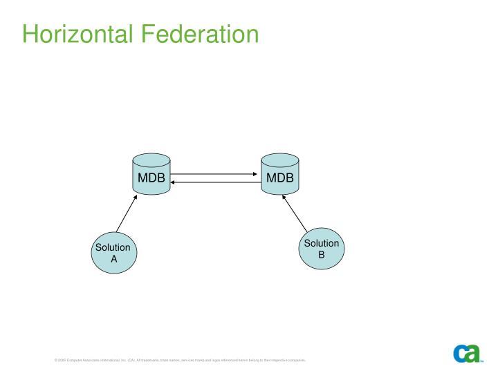 Horizontal Federation