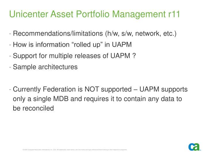 Unicenter Asset Portfolio Management r11