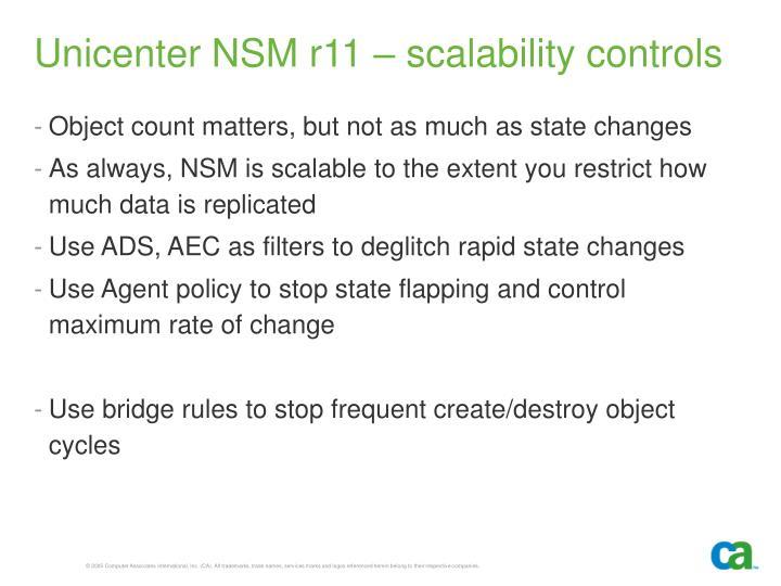Unicenter NSM r11 – scalability controls