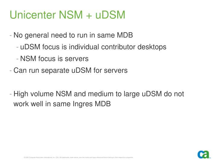 Unicenter NSM + uDSM