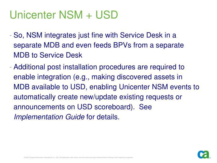 Unicenter NSM + USD