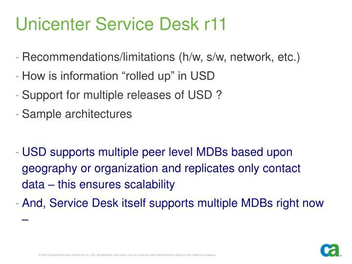 Unicenter Service Desk r11