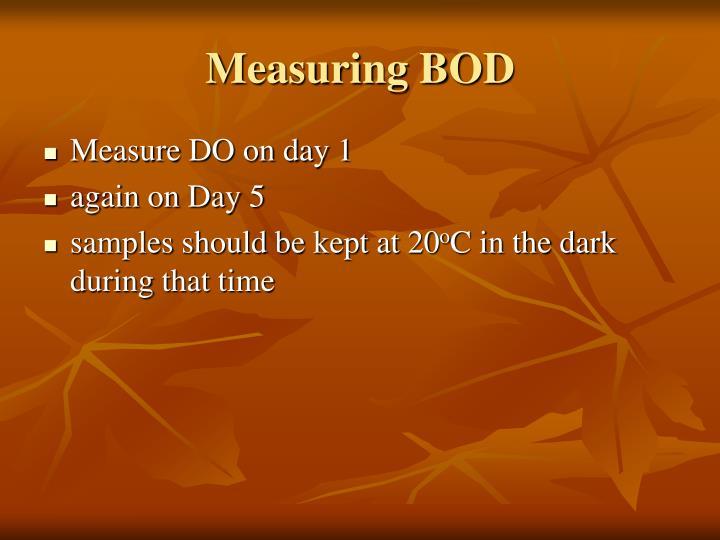 Measuring BOD