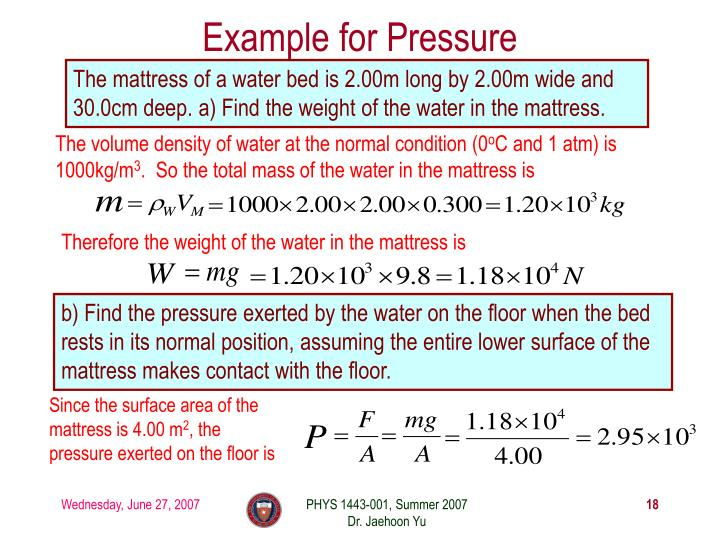 Example for Pressure