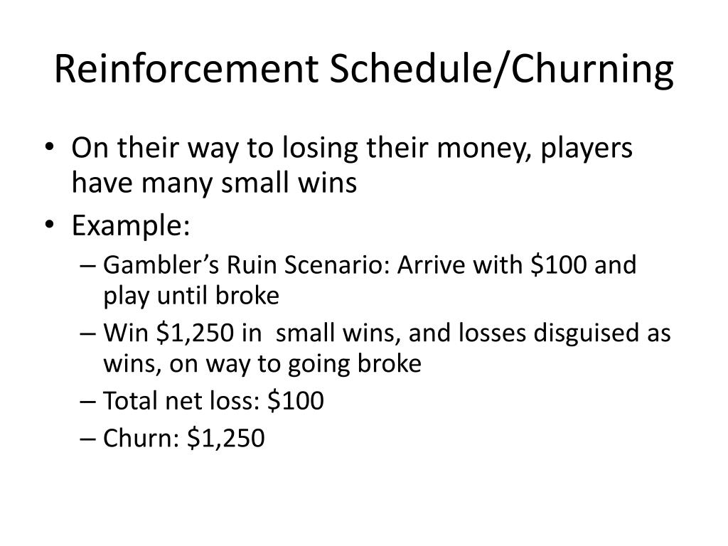 Reinforcement Schedule/Churning