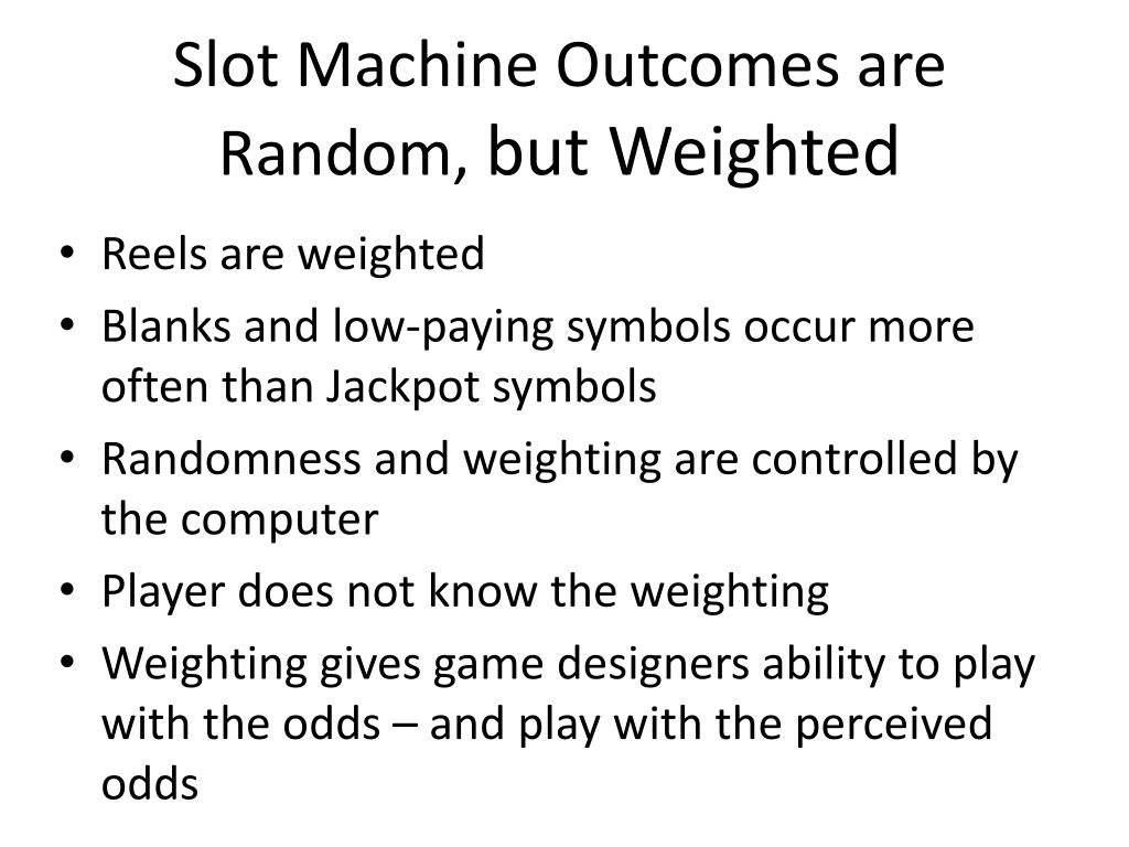 Slot Machine Outcomes are Random,