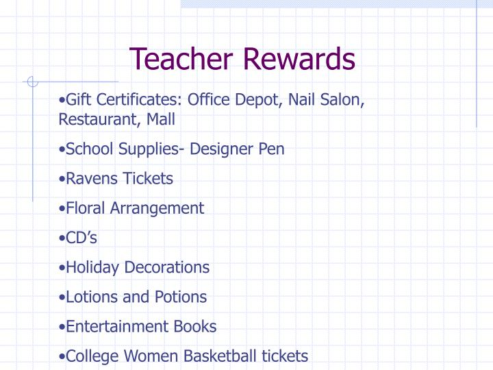 Teacher Rewards