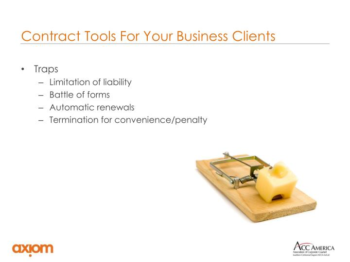 Contract Tools For Your Business Clients