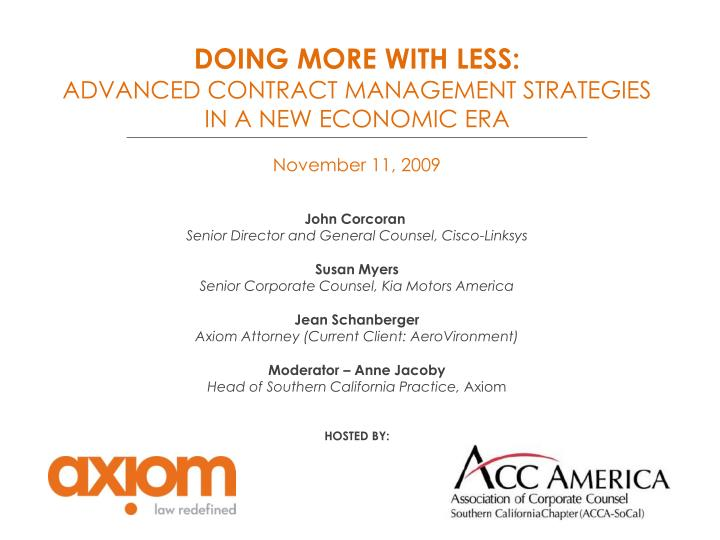 Doing more with less advanced contract management strategies in a new economic era