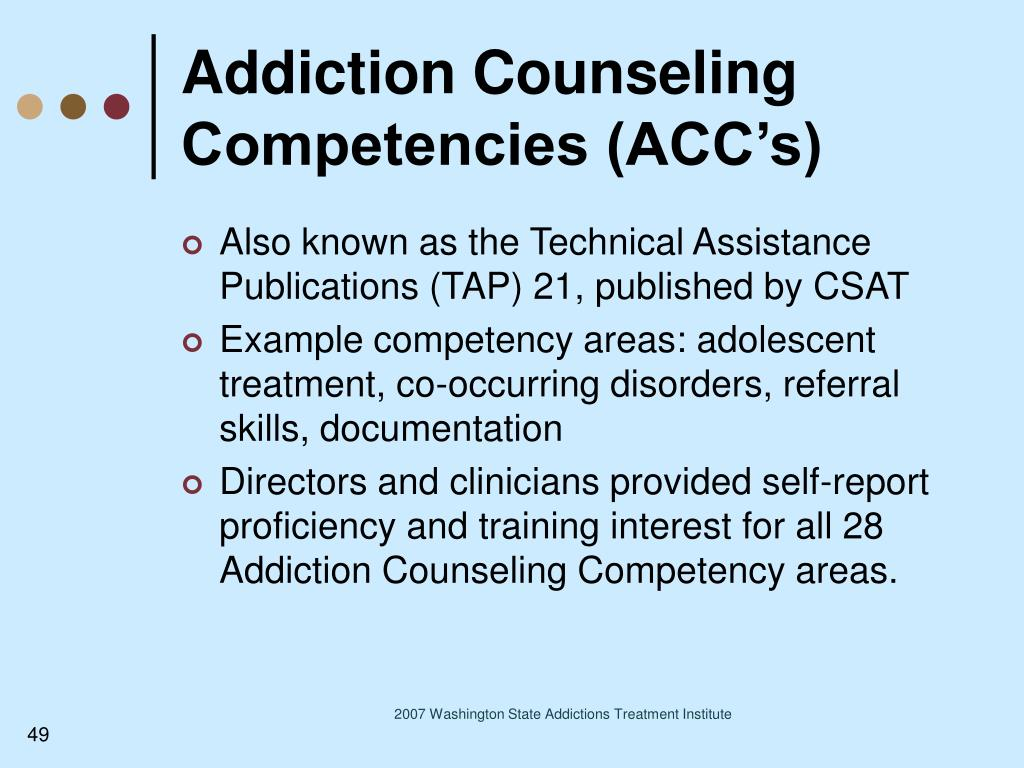 Addiction Counseling Competencies (ACC's)