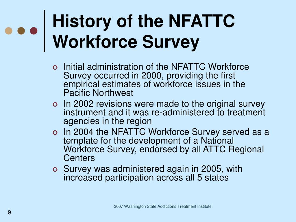 History of the NFATTC Workforce Survey