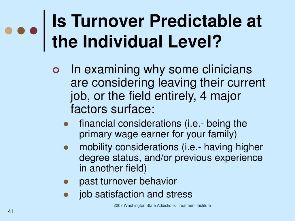 Is Turnover Predictable at the Individual Level?
